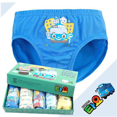 Tayo panties 5pcs set for 4~5 years old boy / Tayo underwear set (standard) (Games For 5 Year Old Girls)
