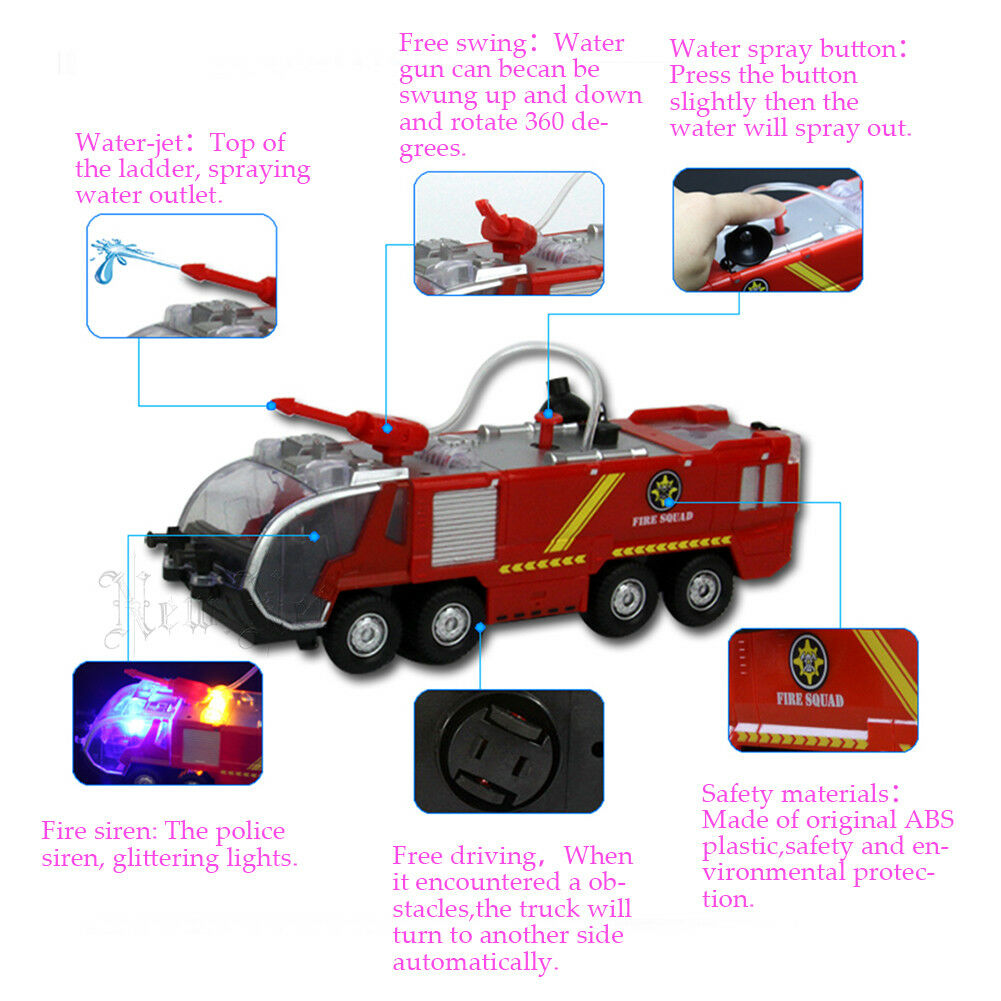 Fire Truck Kids Toy Gift Rescue Fighters Vehicle L In Toys 1 64 Aksesoris Toybatteries Not Include