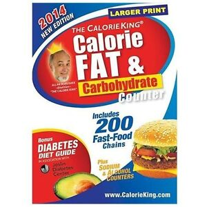 NEW The Calorie King Calorie, Fat & Carbohydrate Counter 2014 - Borushek, Allan