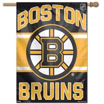 Boston Bruins 28 X40  House Flag Or Wall Banner Weather Resistant