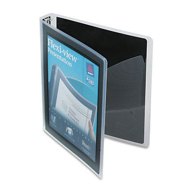 Avery Flexi-view Round-ring Presentation 3-ring Binder 1 Capacity - Ave17686