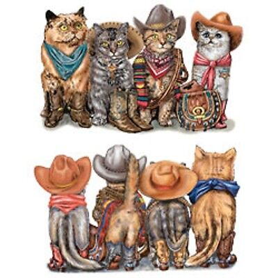 Cowboy Cat T Heat Press Transfer For T Shirt Sweatshirt Tote Bag Fabric 272e