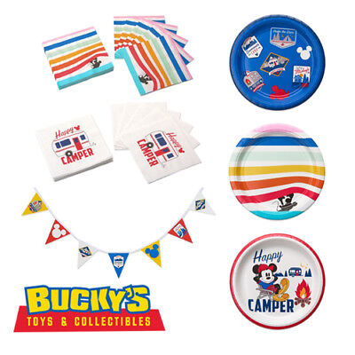 Disney Mickey Mouse Party Decorations Tableware Happy Camper BBQ Summer Picnic - Picnic Party Supplies