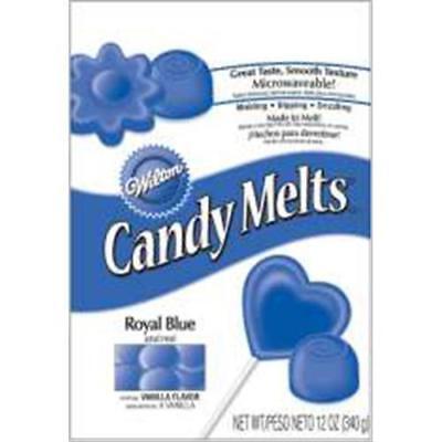 Royal Blue Wilton Candy Melts 12 oz Molds Holiday Vanilla Flavor - Candy Melts Molds