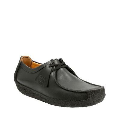 Clarks Originals Natalie Mens Oxford Black Leather Casual Shoes 26109037