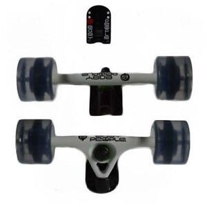 Easy   People Longboards White Truck set Gel Wheels,Spacer, Bearing ABEC-7