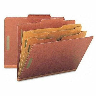 Smead 14079 Red Pressboard Classification Folders With Pocket-style Dividers And Pocket Style Classification Folders