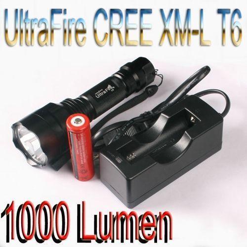 led taschenlampe 1000 lumen ebay. Black Bedroom Furniture Sets. Home Design Ideas