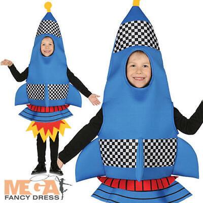 Rocket Kids Fancy Dress Space Ship Boys Girls Novelty Book Day Costume Outfit - Rocket Girl Kostüm