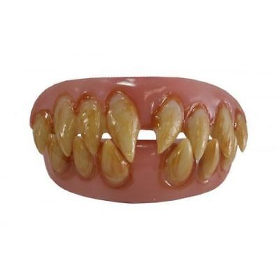 Scary Clown Teeth (Ghoulish Grin Scary Clown It Teeth Set Sharp Top & Bottom Thermal Fitting)
