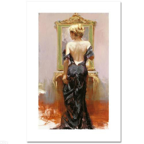 """Pino S/n Embell Stretched Canvas """"evening Elegance"""" 40x24 Coa"""