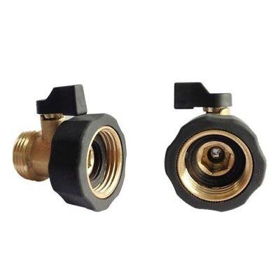 Heavy Duty Garden Hose Shut-Off Valve Metal Water Connector Brass Single EA7X