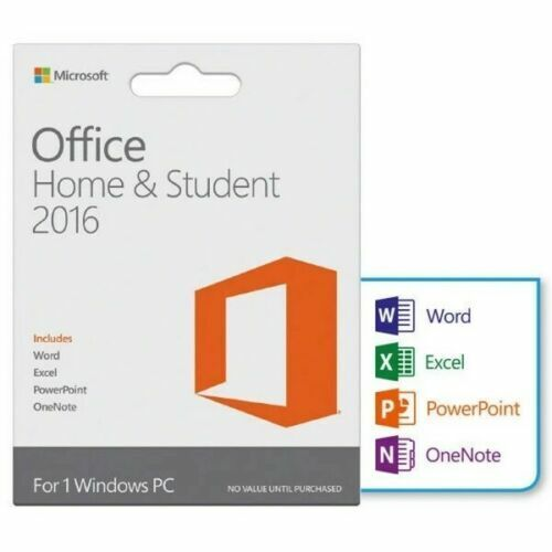 Microsoft Office Home and Student 2016 for Windows 1 PC License + USB |