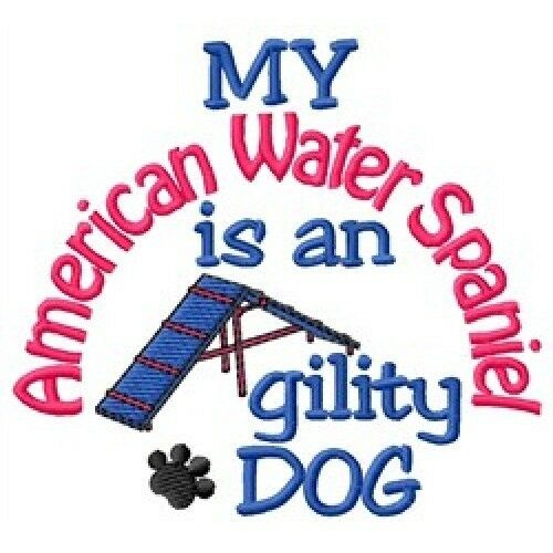 My American Water Spaniel is An Agility Dog Short-Sleeved Tee - DC1876L