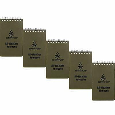Gloryfire Waterproof Notebook Tactical All-weather Spiral Memo Paper 3x55pcs