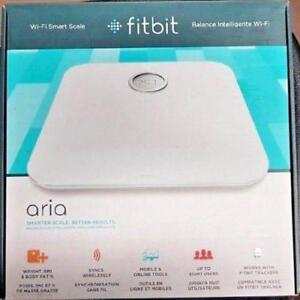 NEW FitBit Aria Wi-Fi Smart Scale - Measures Weight, BMI, Body Fat % - Black or White - FB201W-CAN, FB201B-CAN
