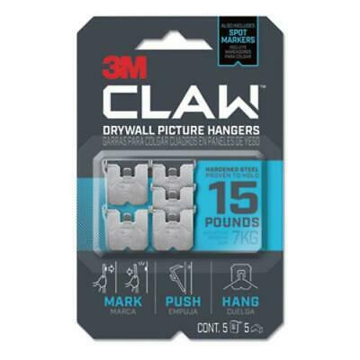 3m 3PH15M-5ES Claw Drywall Picture Hanger, Holds 15 Lbs, 5 Hooks And 5 Spot