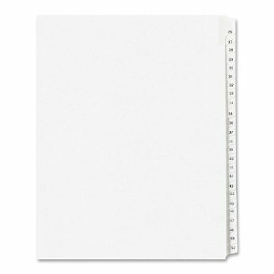 Avery Side Tab Collated Legal Index Dividers - Printed26-50 - 25 Tabsset -