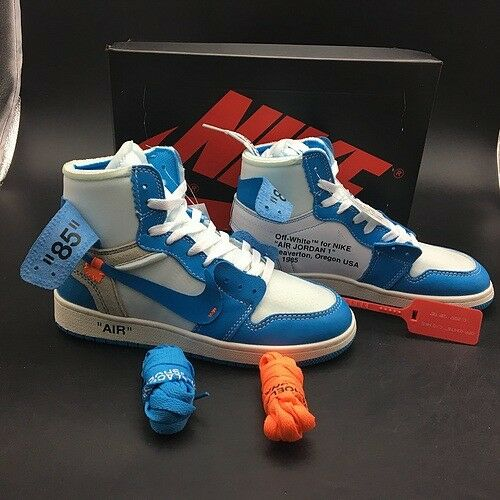 595ef8d64606 OFF-WHITE x Nike Air Jordan 1 - Powder Blue Premium
