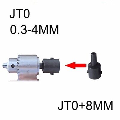 Mini Electric Drill Chuck 0.3-4mm With 8mm Steel Shaft Mount Jt0 Inner Hole
