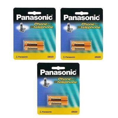 3 Packs of OEM Panasonic HHR-4DPA/2B Ni-MH Rechargeable Cordless Phone Battery