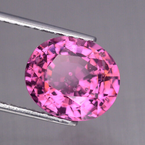 3.12CT Very Good Color&Full Fire! Top Luster Pink Natural Tanzania Spinel #10