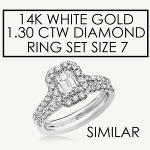 NEW* STAMPED 14K DIAMOND RING SET 7 179384 160528358 JEWELLERY JEWELRY 14K WHITE GOLD 1.30 CTW