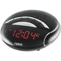 Naxa NAXNRC170B / NRC170 PLL Digital Dual Alarm Clock w/ AM/FM Radio & Snooze