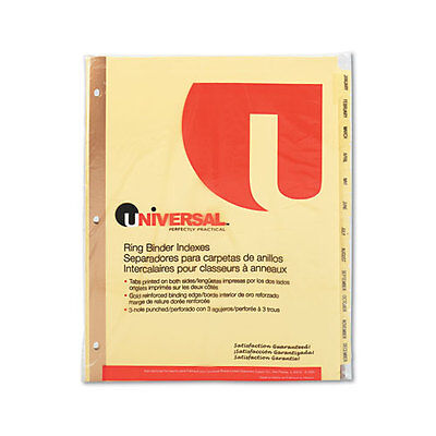 Universal Plastic-coated Tab Dividers 12 Month Tabs Letter Buff 12set