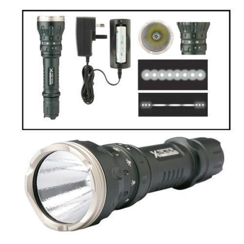 Led Spotlight Rechargeable: Rechargeable Spotlight: Flashlights