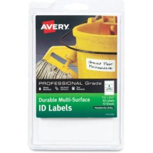 """Avery Professional-grade Id Labels - Permanent Adhesive - 40 Label[s]"""" - 1.25"""""""