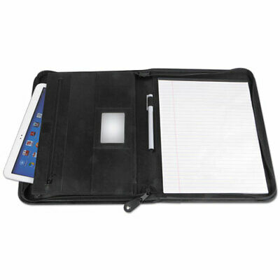 Universal Leather Textured Zippered PadFolio with Tablet Poc