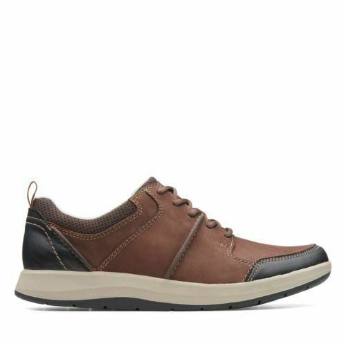 Clarks Men's Shoda Stride Brown Leather Casual Shoes 26136730 1