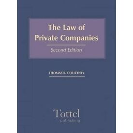 The Law of Private Companies, ISBN 9781845923679