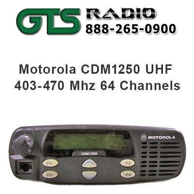 Refurbished Motorola Uhf Cdm1250 Two Way Radio Mobile Pilot Truck High Power 40w