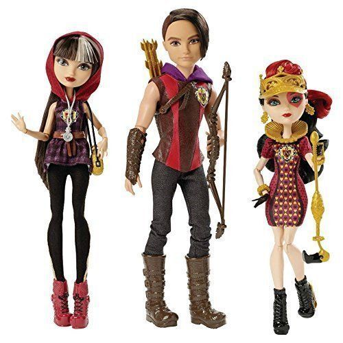 Ever After High Tri Castle On Tricastleon EAH 3 Pack Hunter Huntsman Cerise Hood