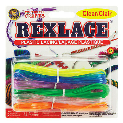 Pepperell Rexlace Plastic Lacing 27 Yards Beading Weaving Cord Stringing Colors - Plastic Lacing