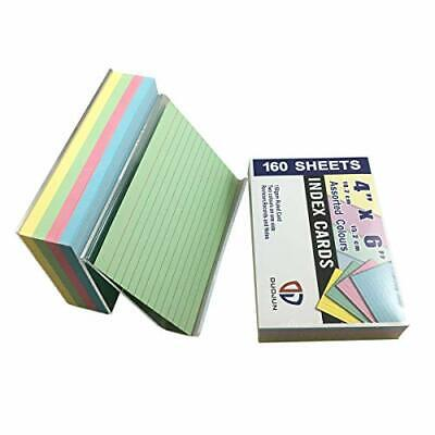 Index Cards With Acrylic Holder 46ruledassorted Colors160 Per Pack2 Pack