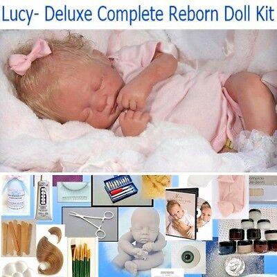 Deluxe kit for Beginning artist ROSEBUD Complete Reborn STARTER REBORN KIT NEW