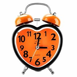 Alarm Clocks for Bedrooms Cute No Ticking Twin Bell with Backlight and Loud