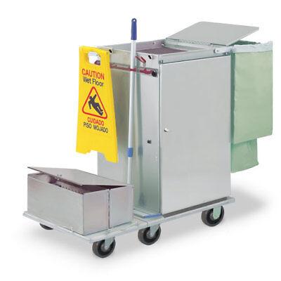Royce Rolls F2436-lst2e Stainless Steel Wide-mini Microfiber Housekeeping Cart