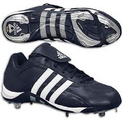 Men's Adidas Excelsior 5 Low Metal Spike Baseball Cleats Black White Size -