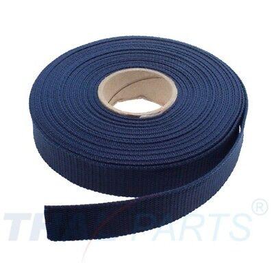 10m Gurtband 25mm Breit - ca. 1,6mm stark - Marine PP Taschengurt Taschenband Marine 10