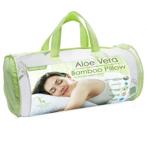 aloe vera bamboo hypoallergenic pillow 1 queen