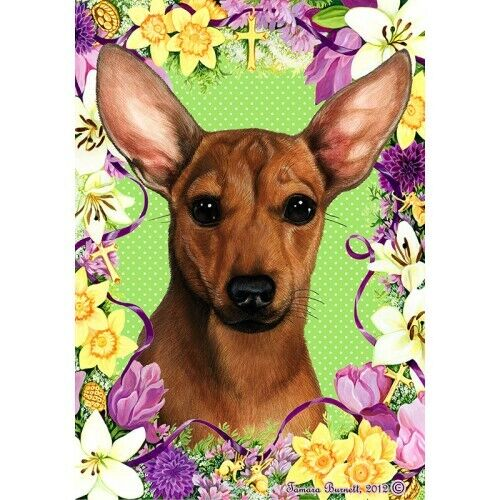 Easter House Flag - Chiweenie 33464