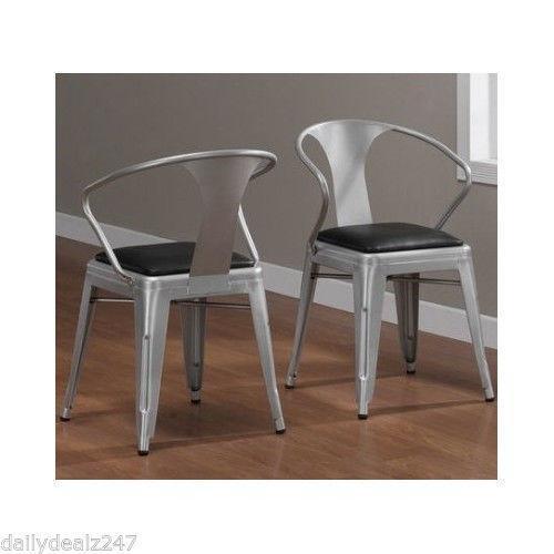 metal kitchen chairs ebay