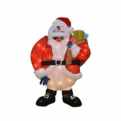 ProductWorks 24-Inch Pre-Lit Bumble Santa Christmas Yard Decoration, 35 Lights](Bumble Christmas Decoration)