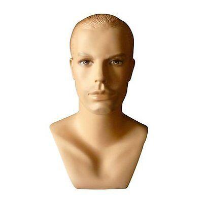 Realistic Male Mannequin Head Made Of Fiberglass H41