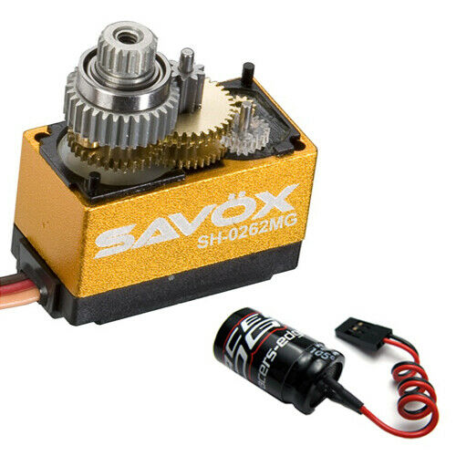 Savox SH-0257MG Super Speed Metal Gear Micro Digital Servo + Glitch Buster