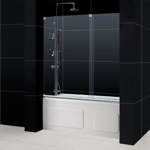 Frameless Sliding Shower Door Ebay